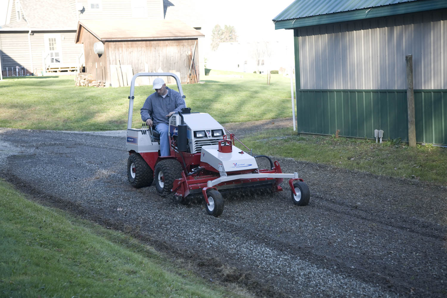 Ventrac Power Rake and Tractor