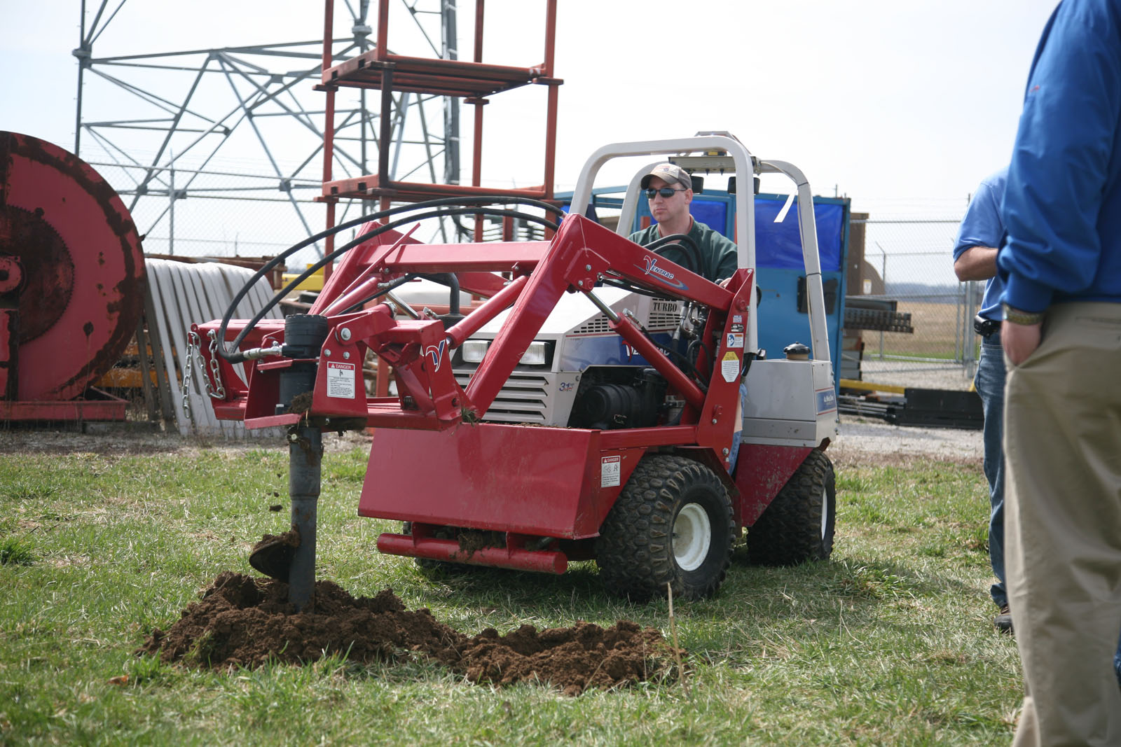 Ventrac post hole digger attachment