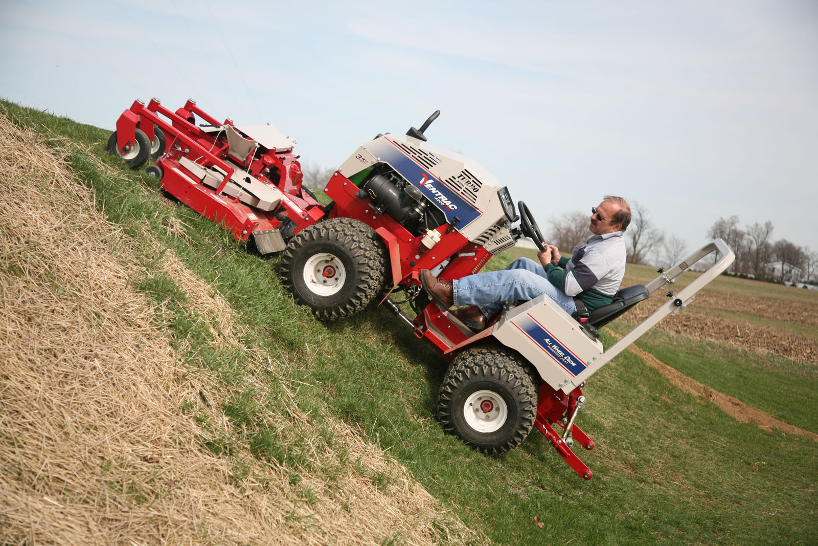Ventrac slope mowing
