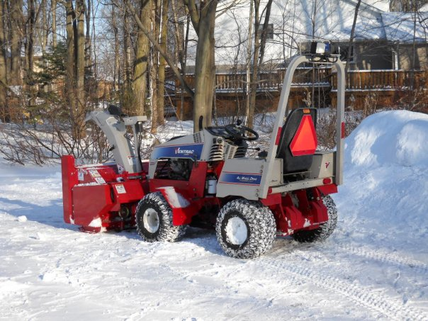 Ventrac tractor and snowblower