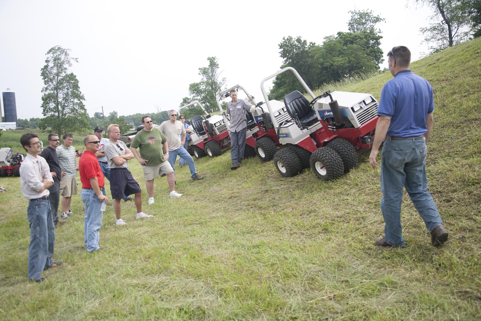 Mowing steep grades with Ventrac tractors