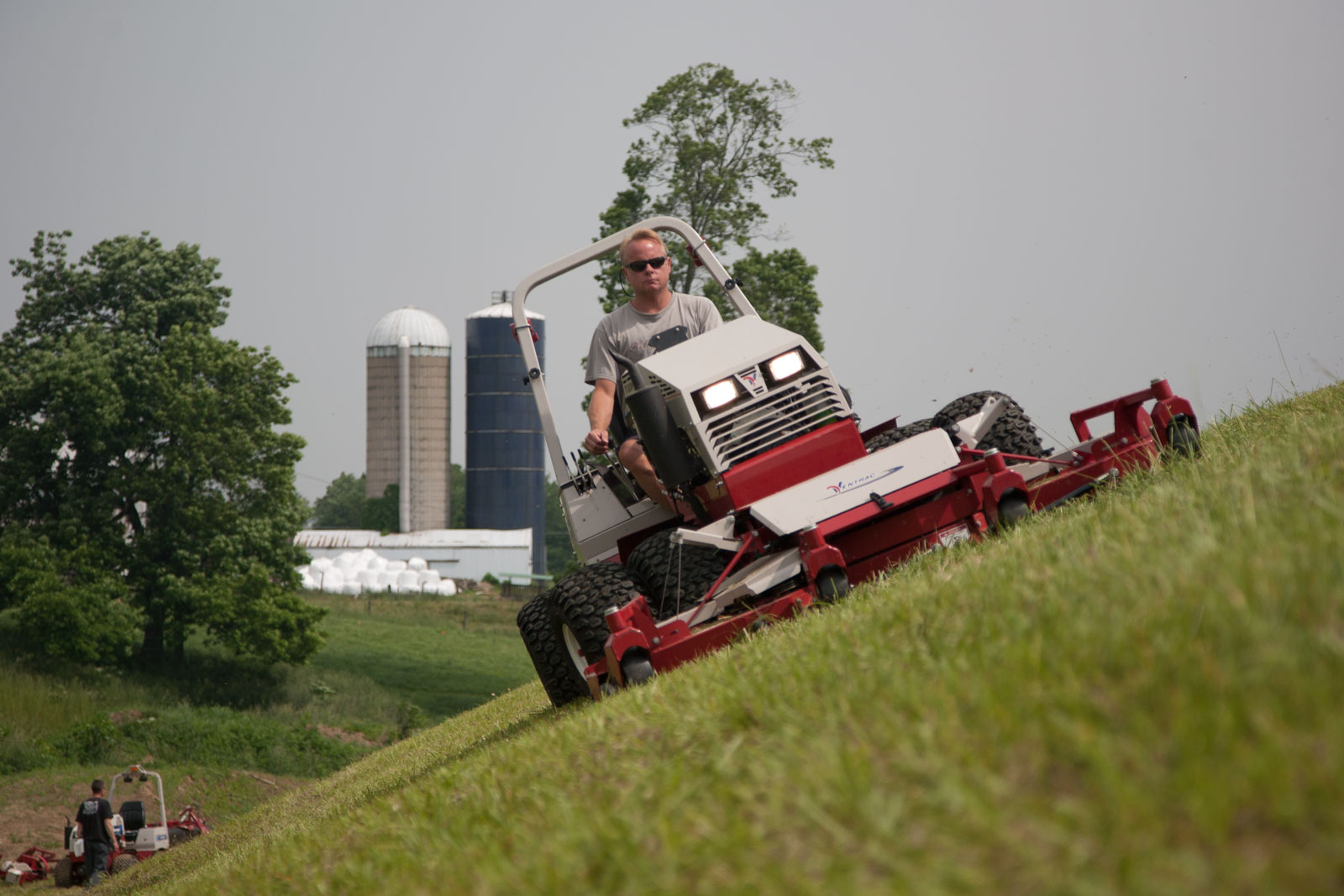 Ventrac is the ultimate slope mower - shown on a 28 degree slope