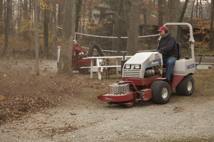 ventrac leaf collection and  leaf blower