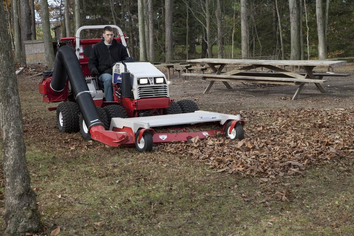 Ventrac leaf vacuum collection system