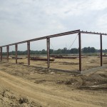 The steel goes up on the Ventrac building