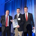 Arlin Steiner, Director of Manufacturing for Ventrac, receives the Evolution of Manufacturing Award for NE Ohio.